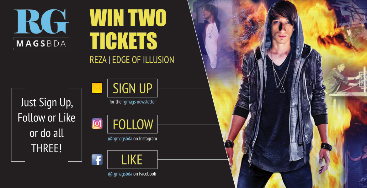 Win REZA Illusionist Tickets