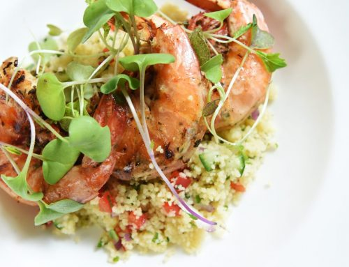 Pan-Seared Shrimp and Couscous Salad